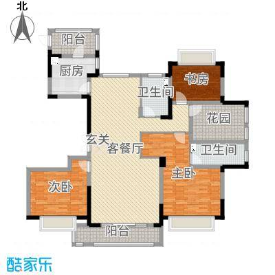 水岸香榭157.00㎡高层户型3室3厅2卫1厨