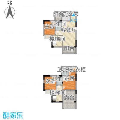 金田花园花域128.00㎡18栋标准层D1户型3室3厅3卫1厨
