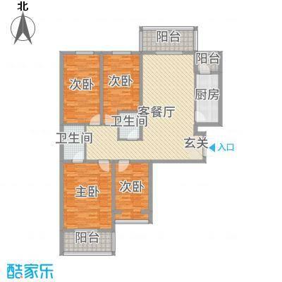 景都花苑Ⅲ・花贵146.06㎡4号楼A户型4室4厅2卫1厨