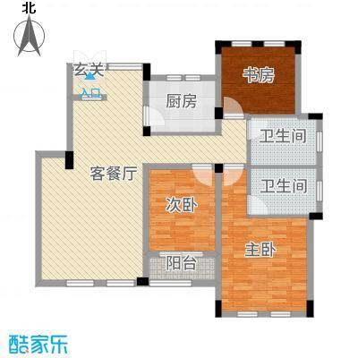 九江国际湾114.25㎡洋房D-4户型3室3厅2卫1厨