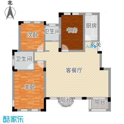 九江国际湾119.97㎡洋房A-5户型3室3厅2卫1厨