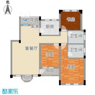 九江国际湾110.61㎡洋房D-5户型3室3厅2卫1厨