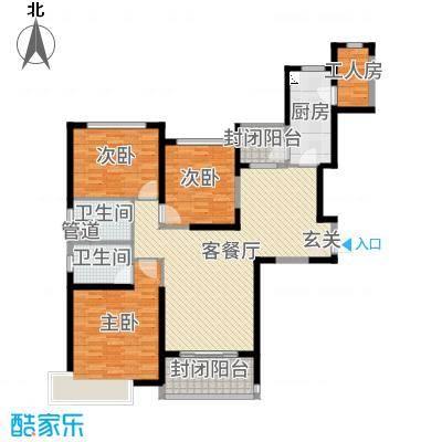 秦皇岛恒大城143.58㎡21#22#标准层户型3室3厅2卫1厨