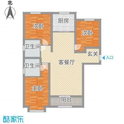 太阳城119.00㎡3居户型3室3厅2卫1厨