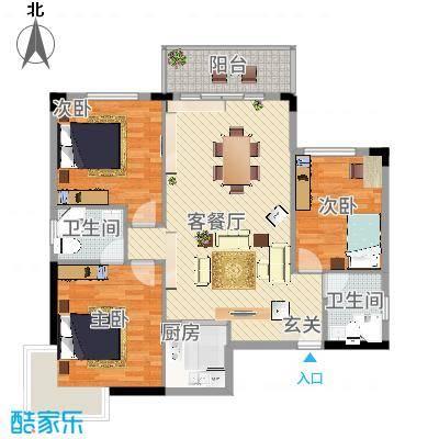 梦园小区184.00㎡梦园小区4室户型4室-副本