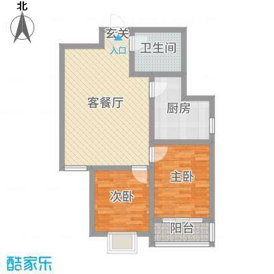 东润国际新城86.56㎡30号楼2-02户型2室2厅1卫1厨