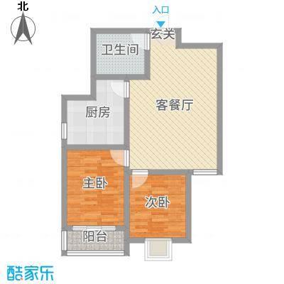 东润国际新城86.56㎡30号楼2-03西户型2室2厅1卫1厨