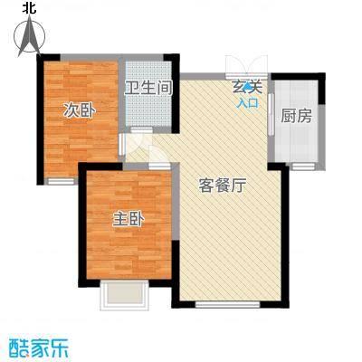 盛达国际新城二期88.90㎡D2户型2室2厅1卫1厨