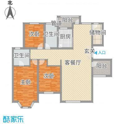 恒泉雅居129.30㎡111户型3室3厅2卫1厨