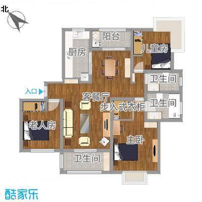 大宁瑞仕花园142㎡三室两厅两卫两阳台