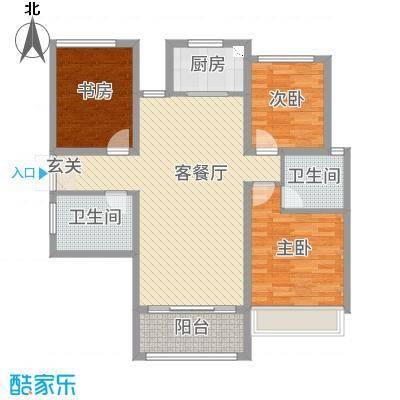 湾流・天悦109.00㎡17、18号楼A3户型3室3厅2卫1厨