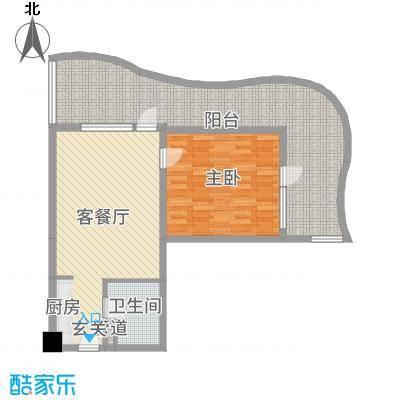 兴龙香玺海92.00㎡一居户型1室1厅1卫1厨