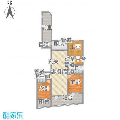 兴龙香玺海138.00㎡D户型2室2厅2卫1厨