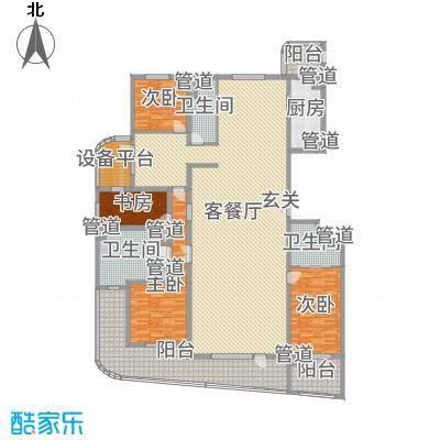 兴龙香玺海326.00㎡A户型4室4厅3卫1厨
