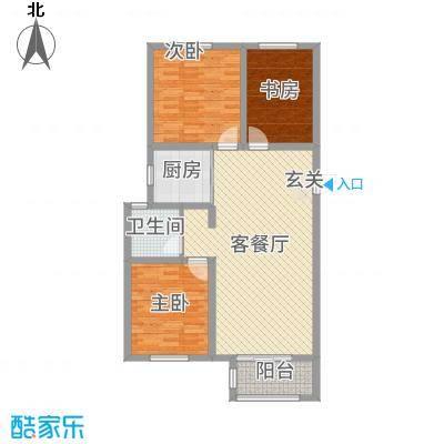 馨视界・花城102.75㎡B3#5#楼L2户型3室3厅1卫1厨