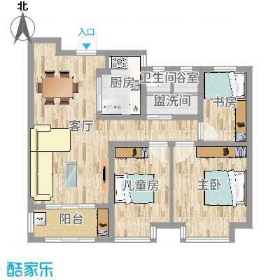 94平三室两厅一卫