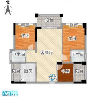 金马香颂居92.31㎡香颂环街3栋01户型3室3厅2卫1厨