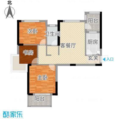 中大十里新城104.00㎡1号楼A4户型3室3厅1卫1厨