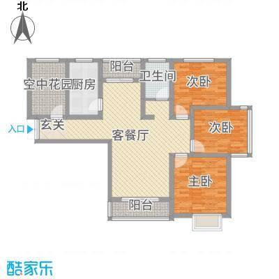 冠景・凯旋门123.63㎡冠景·凯旋门9#C2户型3室3厅1卫1厨