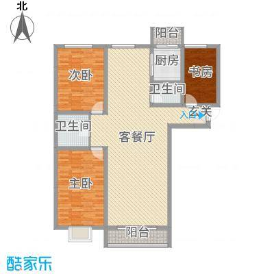 睿瀛豪庭142.95㎡一期F户型3室3厅2卫1厨