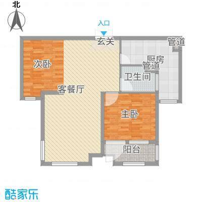 天马相城四期104.32㎡16#A5户型2室2厅1卫1厨
