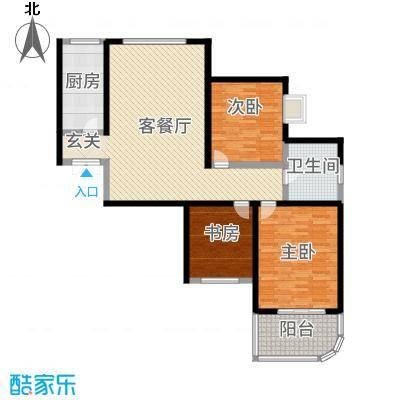 和泰馨和园128.99㎡6#号楼B3-4户型3室3厅1卫1厨