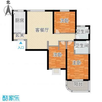 和泰馨和园128.99㎡6#号楼B2-4户型3室3厅2卫1厨