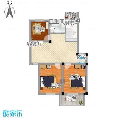 繁裕新村85.00㎡户型3室1厅1卫1厨-副本