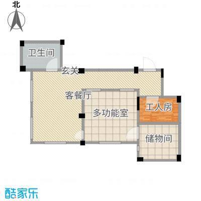 南昌莱蒙都会175.00㎡一期洋房E1地下二层平面图户型4室4厅3卫1厨