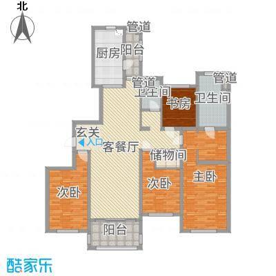 龙馨家园181.00㎡9#D2户型4室4厅2卫