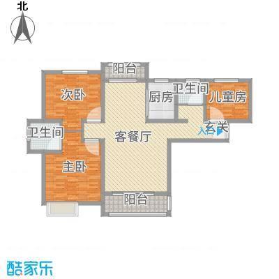 尚都国际128.00㎡D1户型3室3厅2卫1厨