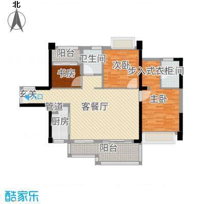 深业泰然观澜玫瑰轩112.00㎡B座03户型3室3厅2卫1厨