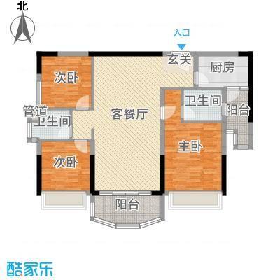 凯旋豪庭127.13㎡55栋02户型3室3厅2卫1厨