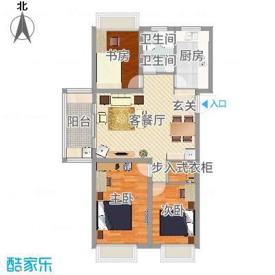 万邦金地花园二期8#11#楼东西边套户型-设计师~杨俊军