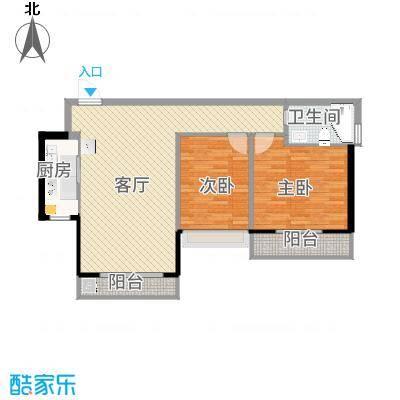 南向两房-内墙尺寸-副本
