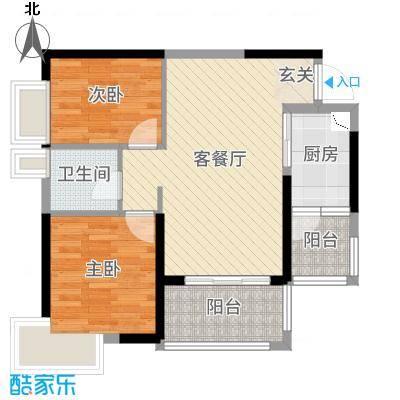 珠海奥园广场72.00㎡4栋03/04户型2室2厅1卫1厨