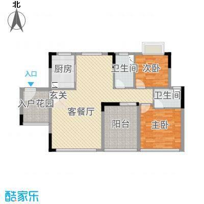 鼎湖森邻102.71㎡M1栋18层01户型2室2厅2卫1厨