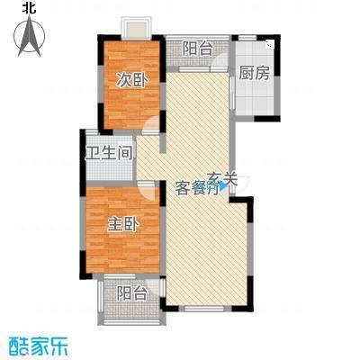 春江花园98.00㎡户型2室2厅1卫1厨