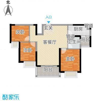 恒大绿洲105.51㎡9#02户型3室3厅1卫1厨