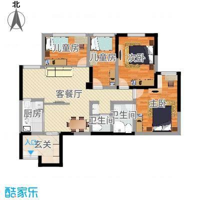 Y云南德宏鑫盛时代佳园105㎡(欧式4室2厅)KJL