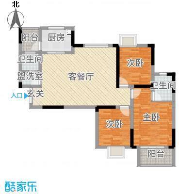 玛丽的花园113.05㎡6栋14户型3室3厅1卫1厨
