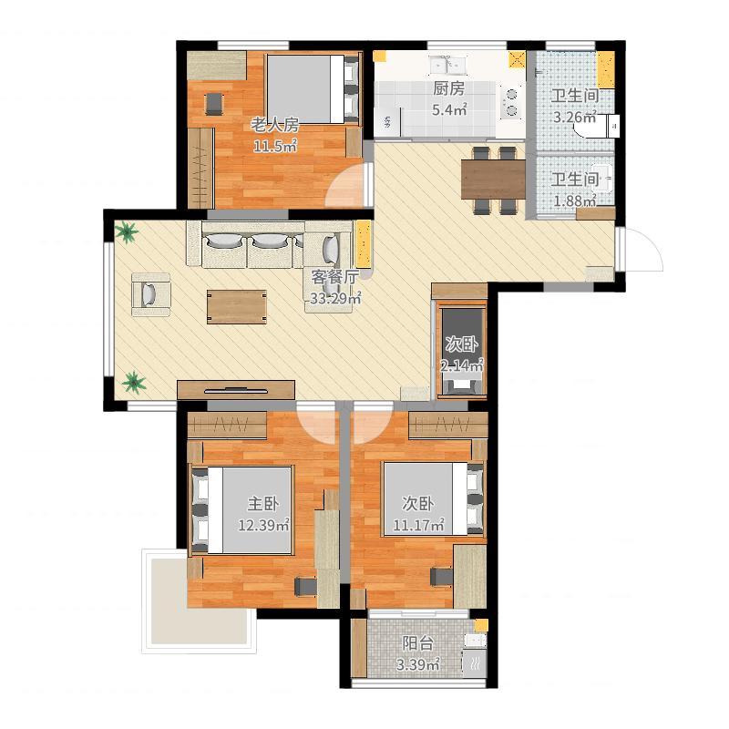 房间平面图怎么画-手绘平面图草图的步骤,房间立体图