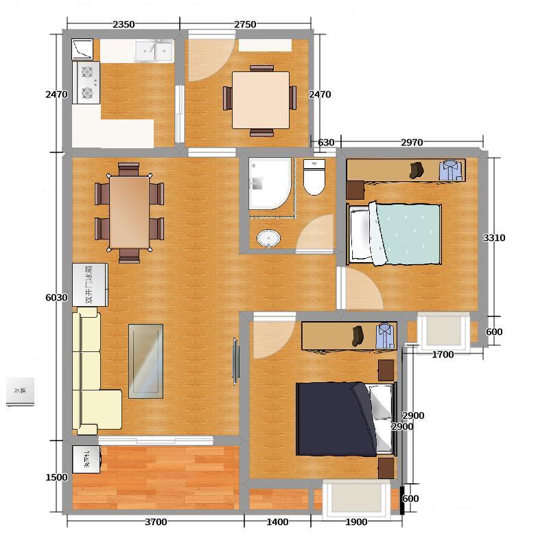 家装建筑平面图(图纸)