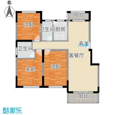 上置香岛御墅143.00㎡D1户型3室3厅2卫1厨