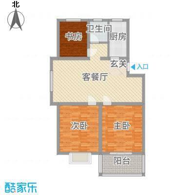 多瑙河国际公寓106.50㎡C-3户型3室3厅1卫