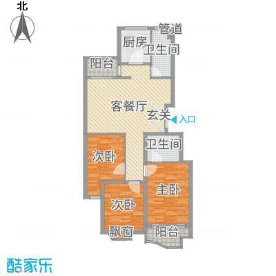 金汇国际110.00㎡5、12号楼C2-a户型3室3厅2卫1厨