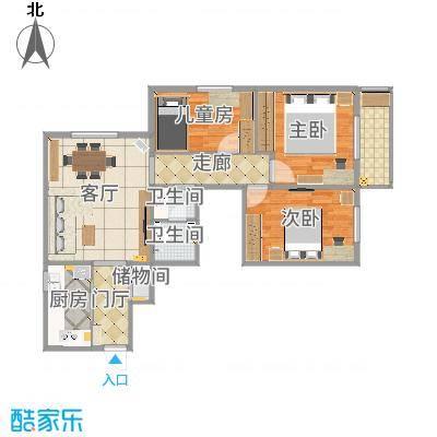 北京石景山区八角南里三居室-2