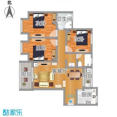 银康苑(三室一厅1)(青木香居新中式)3D-副本