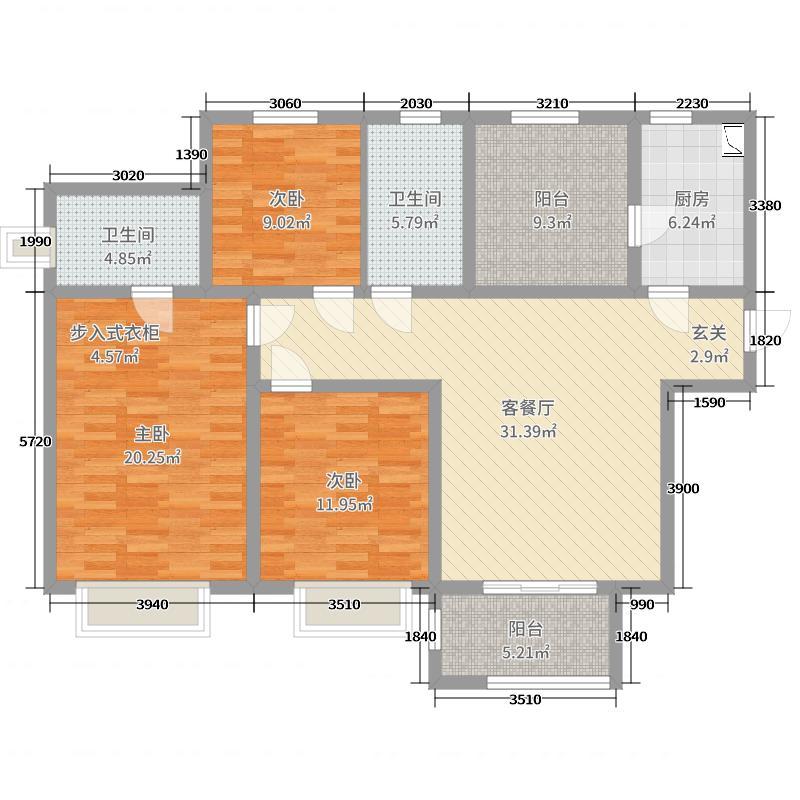 户型设计 海信悦华里  山东 青岛 海信悦华里 建筑面积:130平方米 &