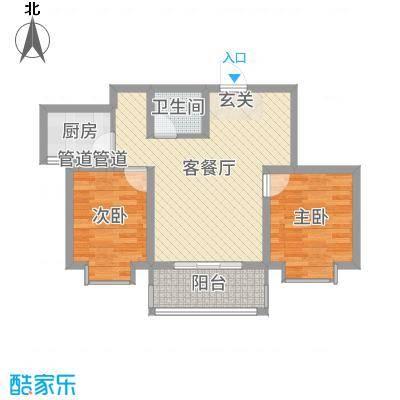锦绣鹏城07户型2室2厅1卫-副本